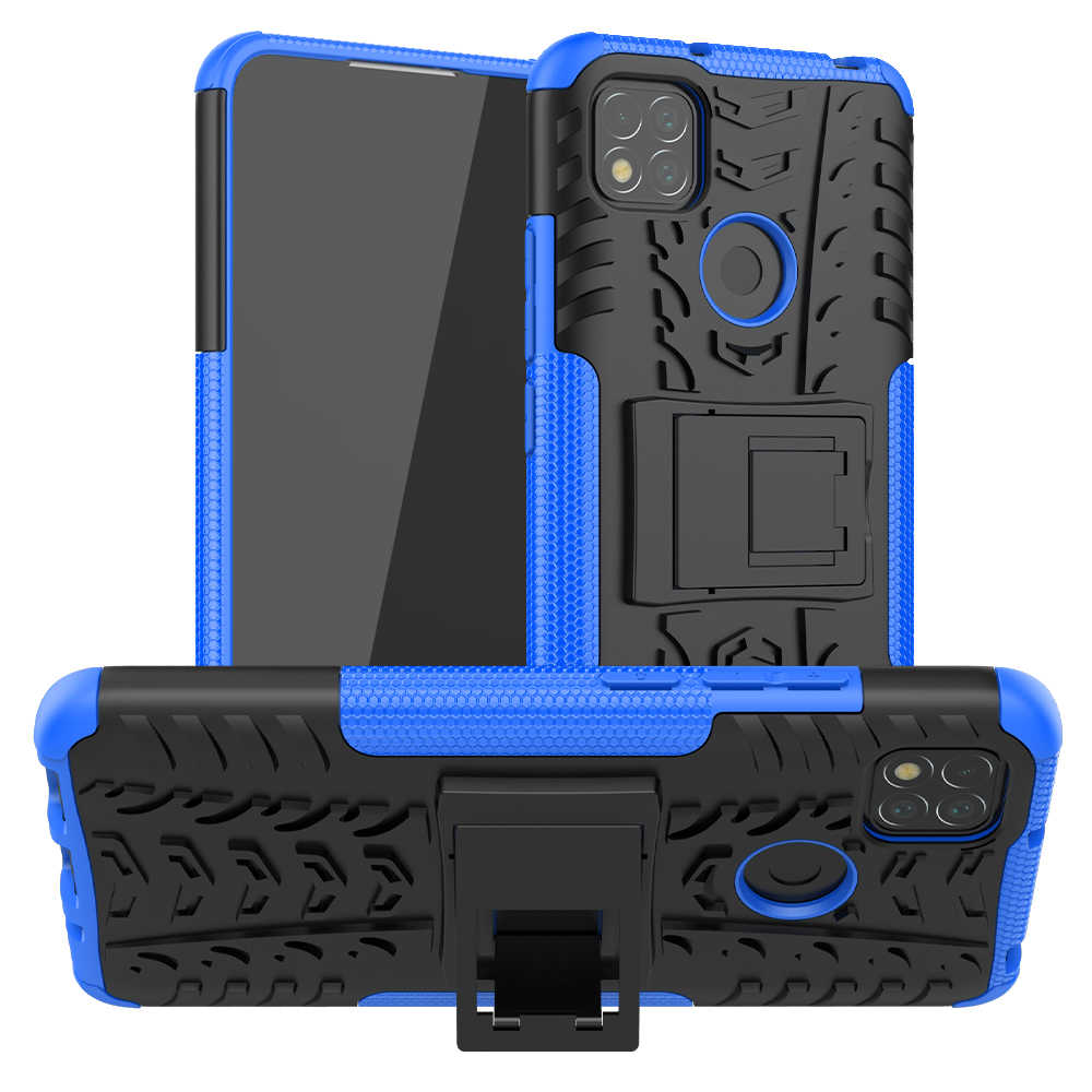 Untuk Xiaomi Redmi 9C Case Cover Anti-Knock Bumper Heavy Duty Armor Stand Back Cover Redmi 9 C Prime silikon Redmi 9C