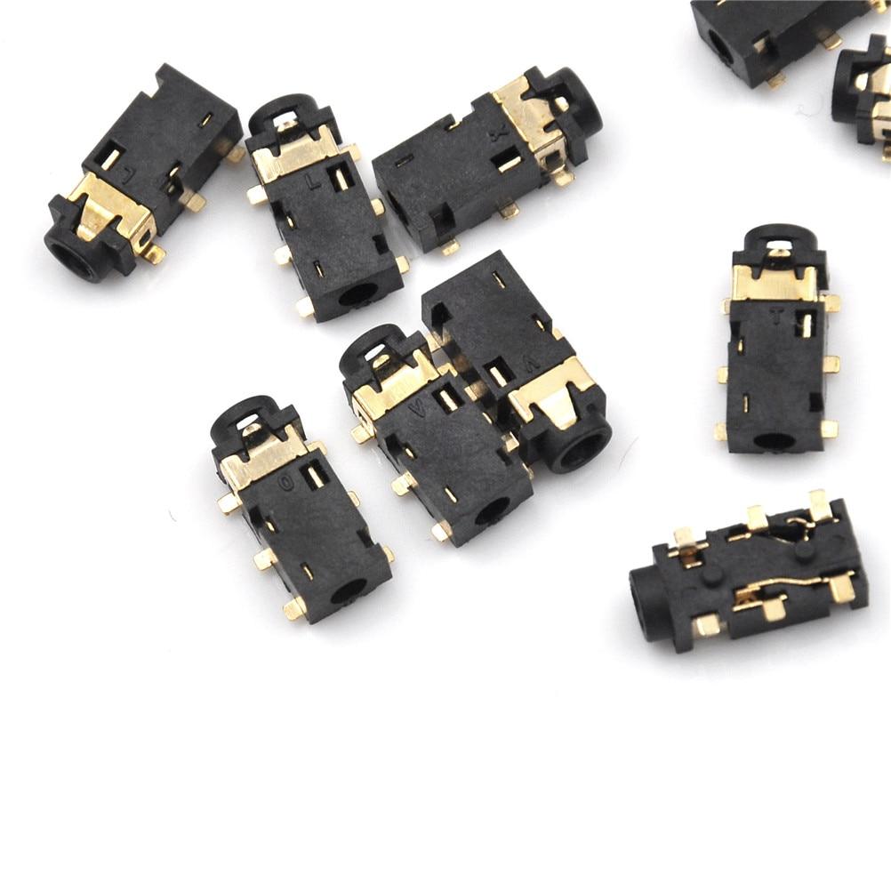 10 шт./лот Новинка 2,5 мм Женский аудио разъем 6 Pin SMT SMD стерео разъем для наушников PJ-242 оптовая продажа