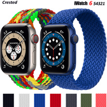 Braided Solo Loop For Apple watch band 44mm 40mm 38mm 42mm FABRIC Nylon Elastic belt bracelet iWatch series 3 4 5 se 6 strap cheap Lerxiuer CN(Origin) Other Watchbands New without tags 44 42 40 38 mm for applewatch aple aplle applle i watch 3 2 1 stretchable smartwatch wristband wrist belt correas Accessories