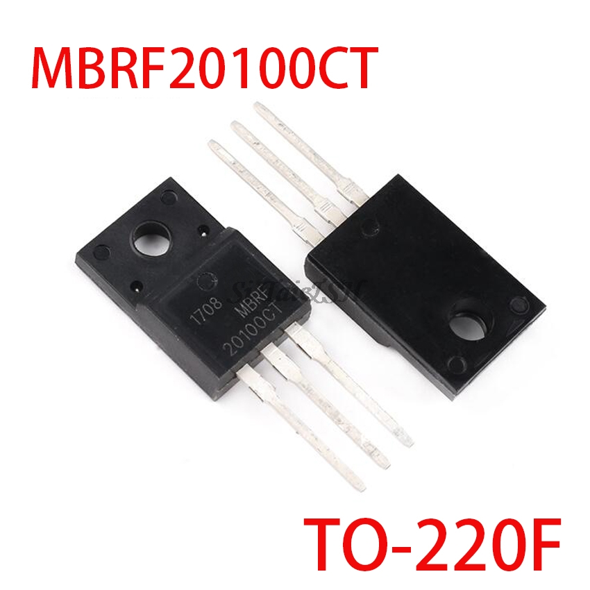 10PCS MBRF20100CT TO220F MBRF20100 TO-220F 20A 100V TO-220