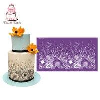 Все растет трафарет для торта цветок кружева сетки трафареты для свадебного торта границы трафарет, помадка формы украшения торта инструме...