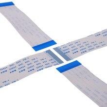 100 pces ffc fpc flexível cabo liso 40 pinos 0.5mm passo mesmos lados comprimento 60 mm 80 100 120 150 200 250 300 400 500 mm zif