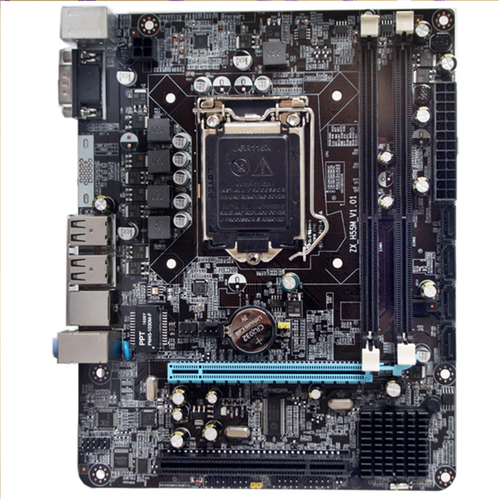 P55-1156 Motherboard Integrated Chip High Performance Desktop Computer Mainboard Interface Powerful CPU Gaming Parts 6 Channel image