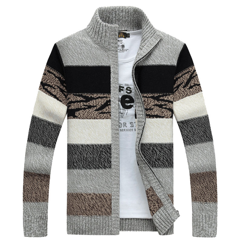 Men sweater cardigan zipper 2020 new arrival autumn and winter fashion trend male knitted coat Korean style M44