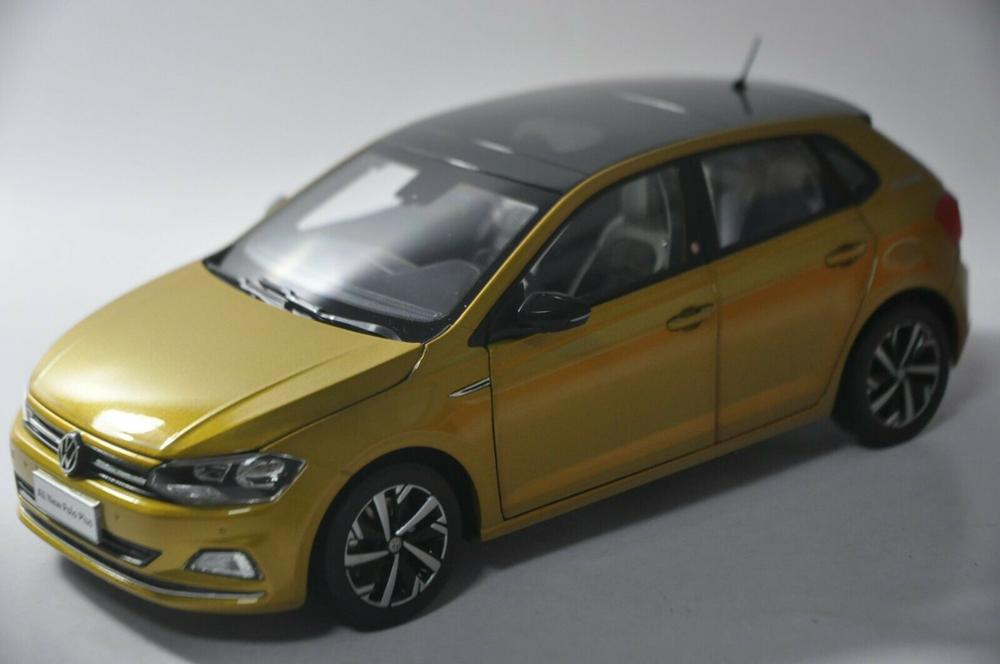 1:18 Diecast Model For Volkswagen VW All New Polo Plus 2019 Hatchback Alloy Toy Car Miniature Collection Gifts