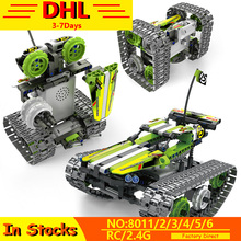 DHL 3 IN 1 Technic Series Compatible Lepining RC Track Remote Control Race Car Vehicle WW2 Tank Building Blocks Educational Toys motorized 20005 technic car series remote control vehicle rc truck model building blocks bricks compatible with 42043 kids toys