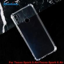 For Tecno Spark 5 Air Case Ultra Thin Crystal Clear Shock Absorption Technology Bumper Soft TPU Cover Case For Tecno Spark 6 Air