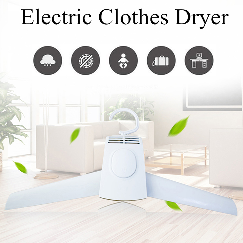 Portable Clothes Dryer Rack 150W Power Samrt Electric Clothes Dryer Electric Hanger For Traveling Foldable Clothes Drying Rack