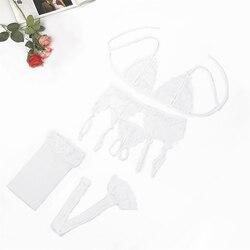 Сексуальный розовый комплект нижнего белья, соблазнительный кружевной комплект с пуш-ап прозрачным бюстгальтером, эротическое женское ниж... 6