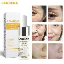 LANBENA 15 мл Гиалуроновая кислота шесть пептид коллагеновая маска для лица Сыворотки витамин C отбеливание сокращает поры, для ухода за кожей, д...