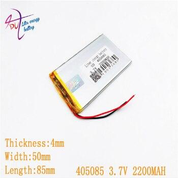3,7 V, 2200mAH 405085 PLIB (batería de polímero de iones de litio/iones de litio) para reloj inteligente, GPS, mp3, mp4, teléfono móvil, altavoz
