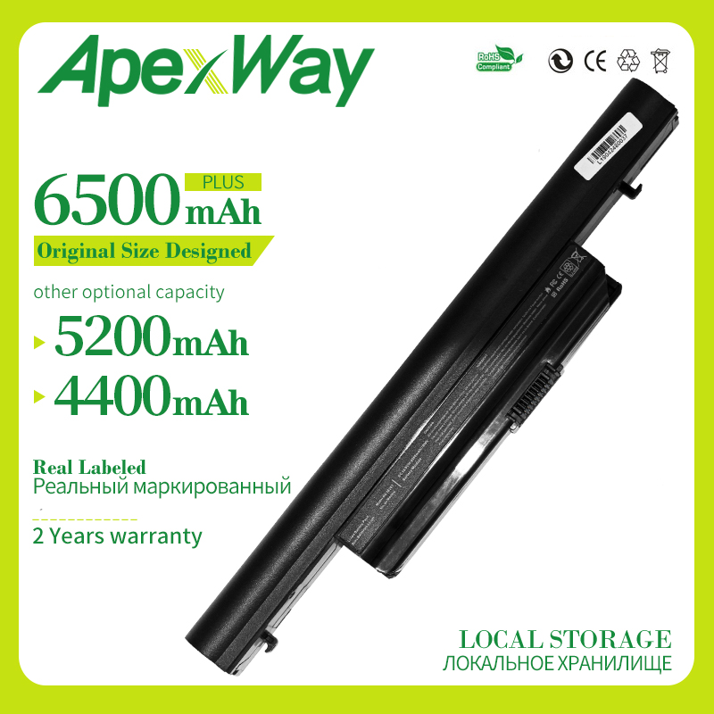 Apexway 6500 MAh Laptop Battery For Acer AS01B41 AS10B31 AS10B3E AS10B41 AS10B51 AS10B5E AS10B61 AS10B71 AS10B73 AS10B75 AS10B7E