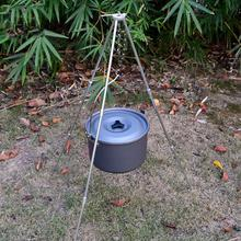 Aluminum Alloy BBQ Grills Dutch Oven Hanging Tripod Portable Folding Outdoor Camping Picnic Cooking Campfire