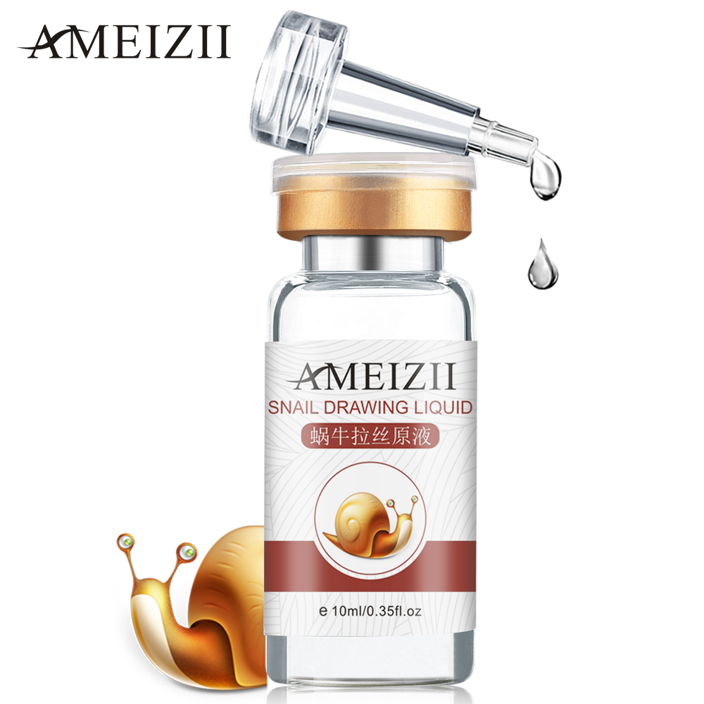 AMEIZII Snail Essence Hyaluronic Acid Serum Moisturizing Whitening Lifting Firming Essence Anti-Aging Face Skin Care Repair 1Pcs