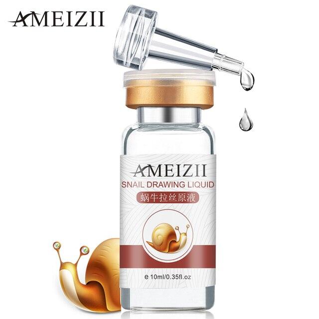 AMEIZII Snail Essence Hyaluronic Acid Serum Moisturizing Whitening Lifting Firming Essence Anti Aging Face Skin Care Repair 1Pcs