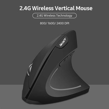 YWYT G814 2 4G bezprzewodowa mysz pionowa ergonomiczna mysz pionowa myszka pionowa mysz optyczna 3 regulowane DPI na PC Laptop tanie i dobre opinie Sunydeal CN (pochodzenie) 2 4 ghz wireless Baterii 2 4G Wireless Vertical Mouse Prawo