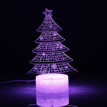 Colorful LED Decorative Lights New Year's Products Christmas Tree Decorations Party Supplies Acrylic Christmas Night Lights Gift