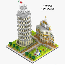 LegoINGlys creators city Street view Italy Leaning Tower of Pisa mini micro diamond building blocks model bricks toys for gifts legoinglys city creators street view australia sydney opera house micro diamond building blocks model nano bricks toys for gifts