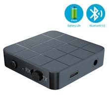 KN321 Bluetooth 5.0 Audio récepteur émetteur 2 en 1 3.5 prise AUX USB musique stéréo sans fil adaptateur pour voiture TV MP3 PC