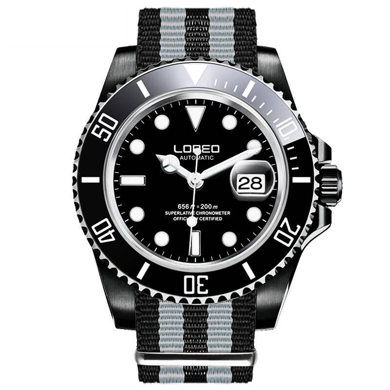 LOREO 9201 allemagne yacht oyster perpétuel maître plongeur 200M automatique auto-vent diamant calendrier scratch chronographe montre