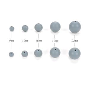 Image 3 - 100pcs 실리콘 Teething 목걸이에 대 한 19MM 라운드 실리콘 구슬 아기 BPA 안전 DIY 실리콘 Teething 구슬에 대 한 음식 학년 구슬
