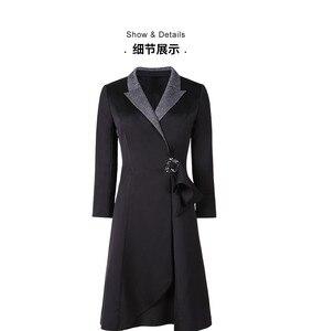 Image 2 - Womens suit dress 2019 autumn new collection waist A line skirt ol professional fit temperament womens wear