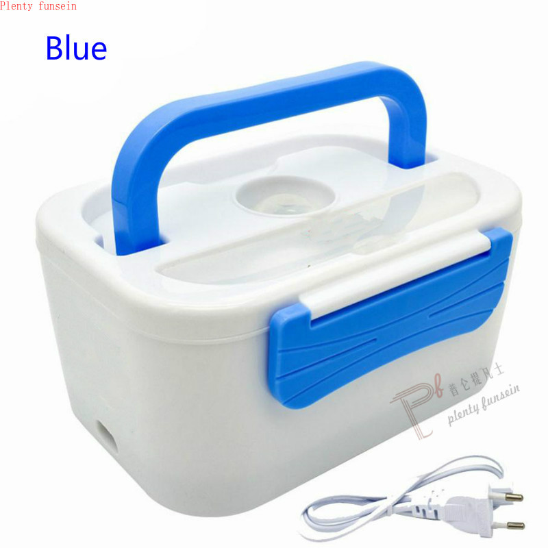 New 1.05L 40W Electric Heating Lunch Box Portable PTC Heated Plastic Bile Splitter Bento Warmer Food Container 220/110VAC/12VDC