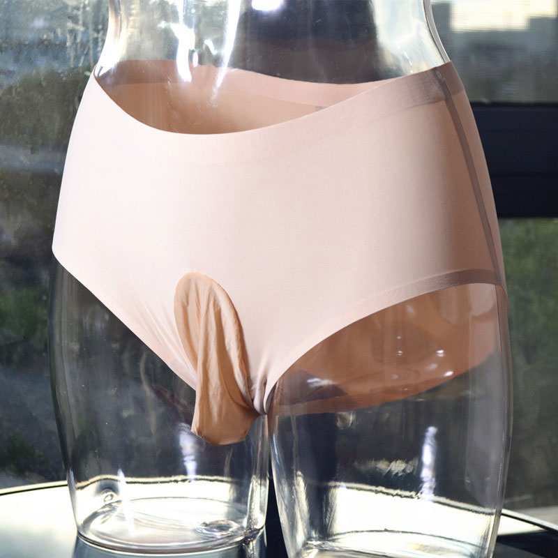 Sexy Shiny Ice Silk U Convex Pouch G-string Sheer Seamless G-string COCk Ring Sexy Brief Candy Color Low Rise Gay Wear Plus Size