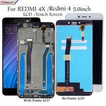 """Display para xiaomi redmi 4 4x 5.0 """"display lcd de tela toque substituição testado smartphone tela lcd toque digitador assembléia"""