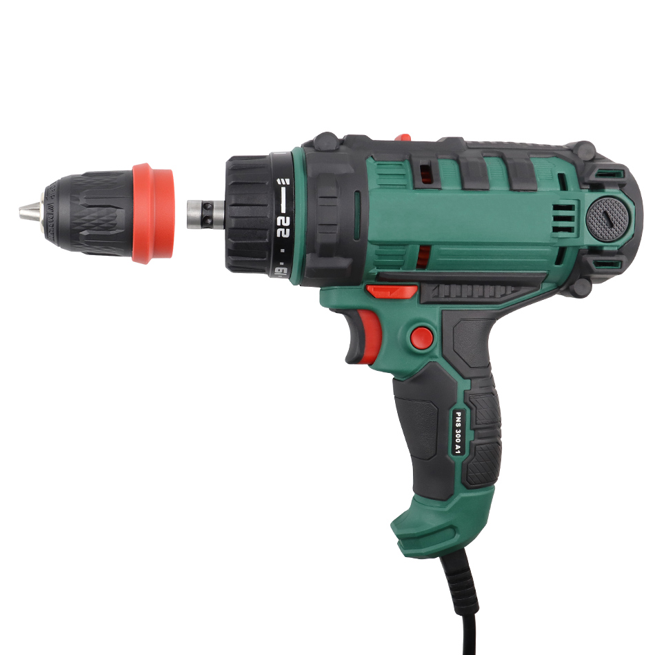 300W Power Tool Corded Impact Drill Electric Power Drill/Screwdriver Energy Drill with 10mm Quick-Release Chuck, Max Torque 40Nm