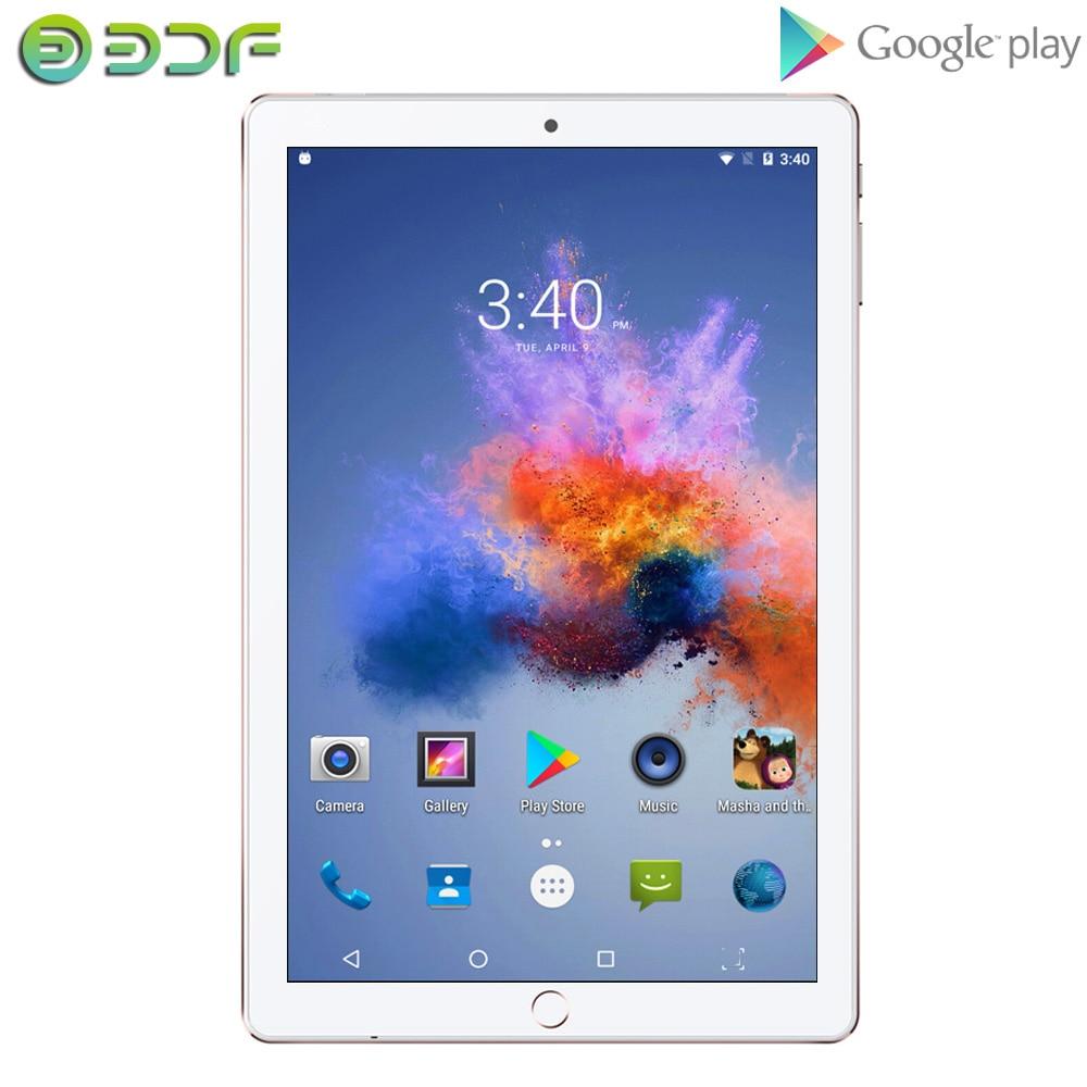 BDF 10 Inch Android 7.0 Quad Core Tablets 32GB ROM 5.0MP Bluetooth WIFI 3G Dual SIM Card Tablet Pc Tab Google Play GPS 10.1 9 8