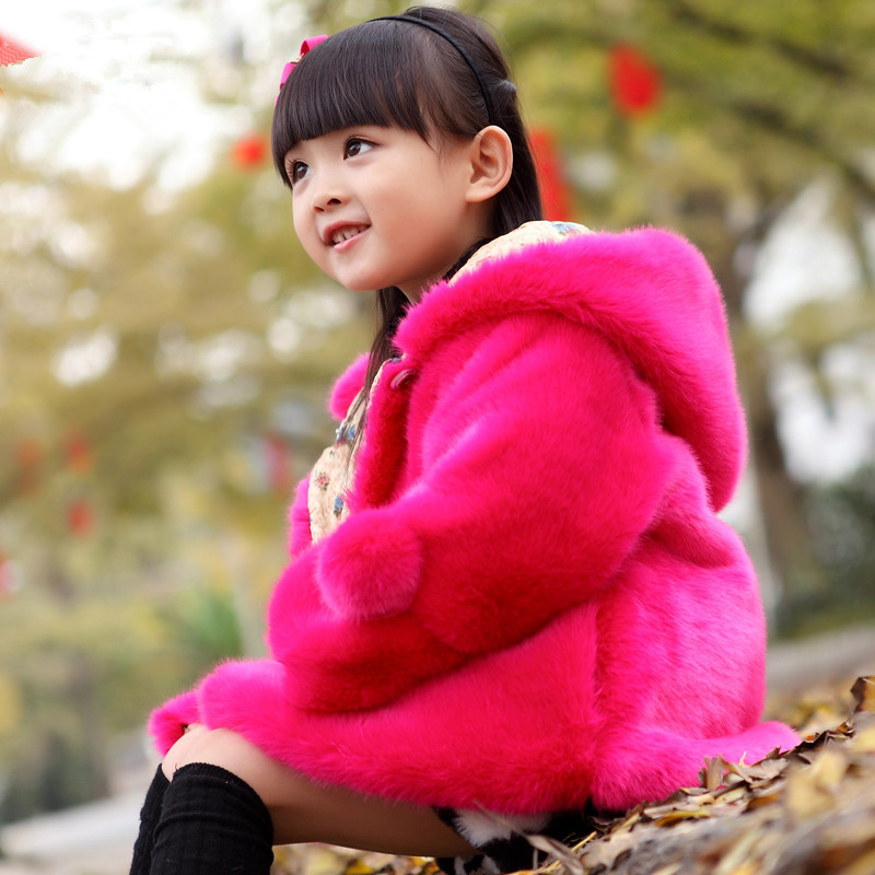 Image 3 - PPXX Plus Size Winter Girl Coats Fur Jackets Snow Kids Clothing Down Parkas Children Jacket Baby Coat Hooded Fashion ThickJackets & Coats   -