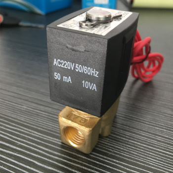 DN8 1/2 DC12V 24V AC110V 220V Electric Normally Close Wire Lead SMC Type Gas Solenoid Valve Pneumatic Valve For Water Oil Air smc type pneumatic solenoid valvesy3120 5lzd m5 sy5120 4lzd 01 sy7120 3lzd 02series valve pneumatic solenoid valve