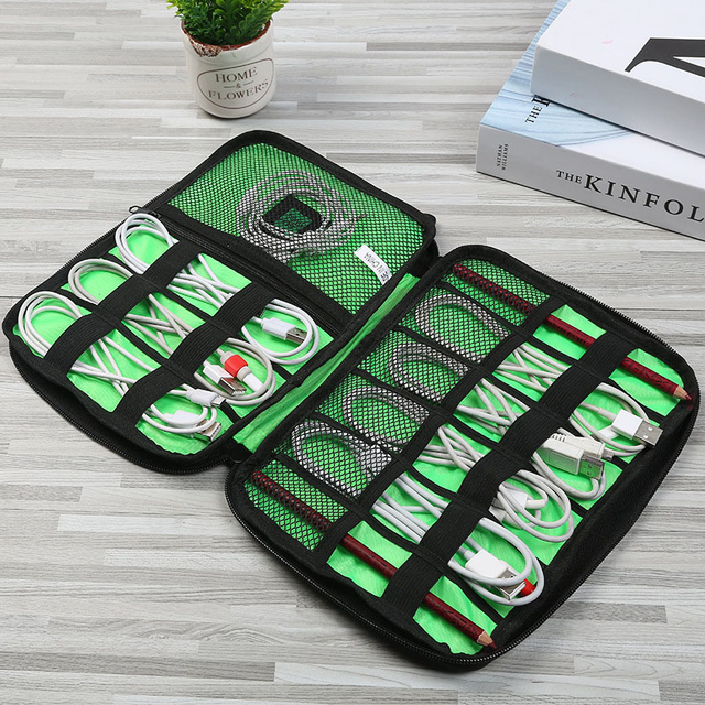 Digital cable bag men creative travel gadgets pouch power cord charger headset organizer drive electronic suitcase accessories