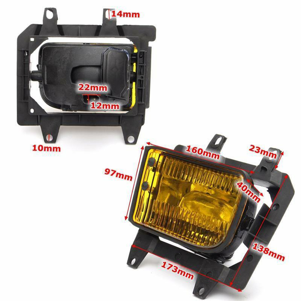 1 Pair Car Front Bumper Fog Light Lamp For <font><b>BMW</b></font> <font><b>E30</b></font> <font><b>318i</b></font> 318is 325i 1985-1993 Kit image