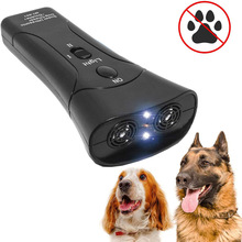 3 in 1 Pet Dog Repeller Anti Barking Stop Bark Training Device Trainer LED Ultrasonic Anti Barking Ultrasonic Without Battery