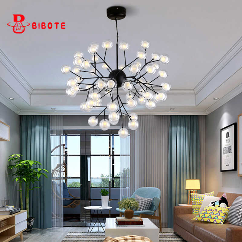 Modern Lustre Chandelier Lighting Firefly Led Pendant Chandeliers For Living Room Bedroom Kitchen Nordic Design Fixture Lights Aliexpress