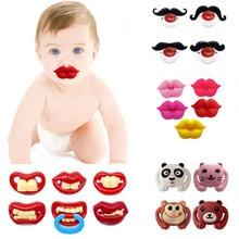 Bebek emzik kırmızı öpücük dudaklar kukla emzik Joke Prank komik silikon bebek nipeller diş kaşıyıcınız emzik emzik bebek diş bakımı diş