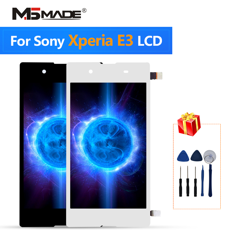 For <font><b>Sony</b></font> <font><b>Xperia</b></font> <font><b>E3</b></font> <font><b>D2202</b></font> D2203 D2206 D2243 LCD Touch Screen Digitizer Display Replacement Parts With Frame For <font><b>Sony</b></font> <font><b>E3</b></font> Display image