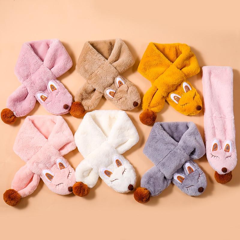2019 Children's Scarf Autumn And Winter Warm Baby Plush Bib Korean Girl Boy Child Soft And Comfortable Collar Bibs Kids Scarves