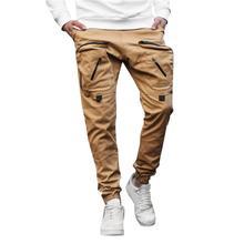 Biegacze styl Safari spodnie z kieszeniami męskie bawełniane elastyczne długie spodnie bojówki wojskowe Cargo legginsy chłopięce długie spodnie z zamkiem błyskawicznym tanie tanio Cargo pants Wysoka Mieszkanie Poliester COTTON spandex Kieszenie REGULAR 2 - 3 Pełnej długości 0004 W stylu Safari Midweight