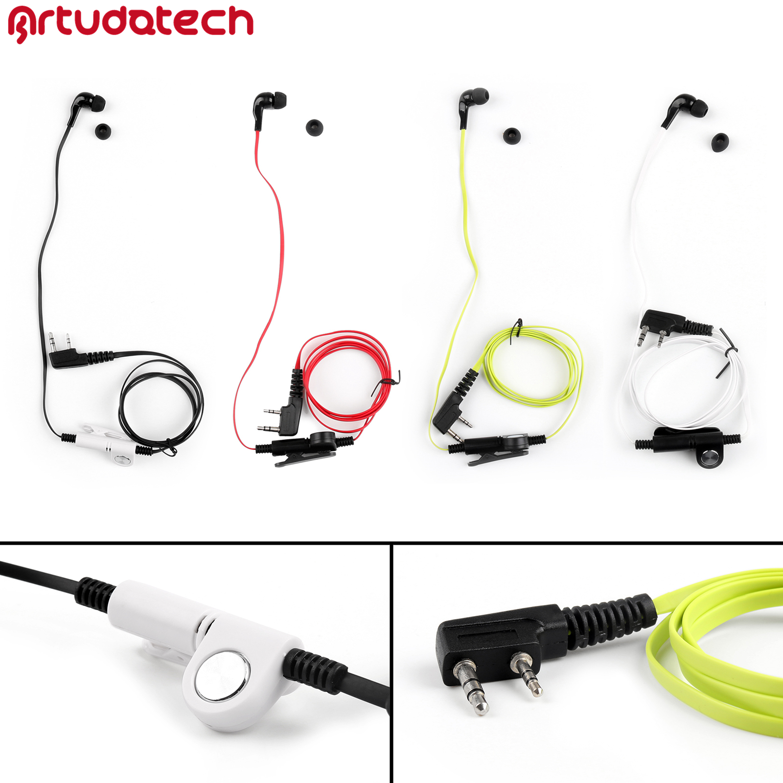 Headset Earpiece For Kenwood TH-F6 TH-F7 BaoFENG BF888S UV-5R UV5R QUANSHENG TG-K4AT TG-45AT Two Way Radio Accessories