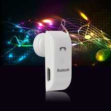 White & Black Portable Radiation proof Voice Dialing Wireless Headset Handsfree Headphone Stereo Music For Phone