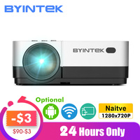 BYINTEK SKY K7 1280x720P 1080P Android WIFI LED Mini Micro Portable Video HD Projector with HD USB For Game Movie Home Theater