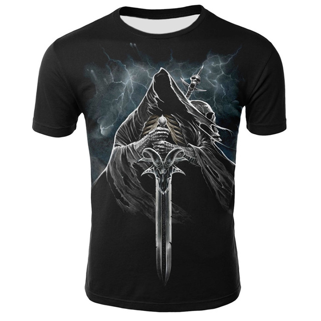 Summer New Funny Skull 3D T Shirt Summer Hipster Short Sleeve Tee Tops Men/Women Print T-Shirts Casual Homme Short Sleeve Tops 8