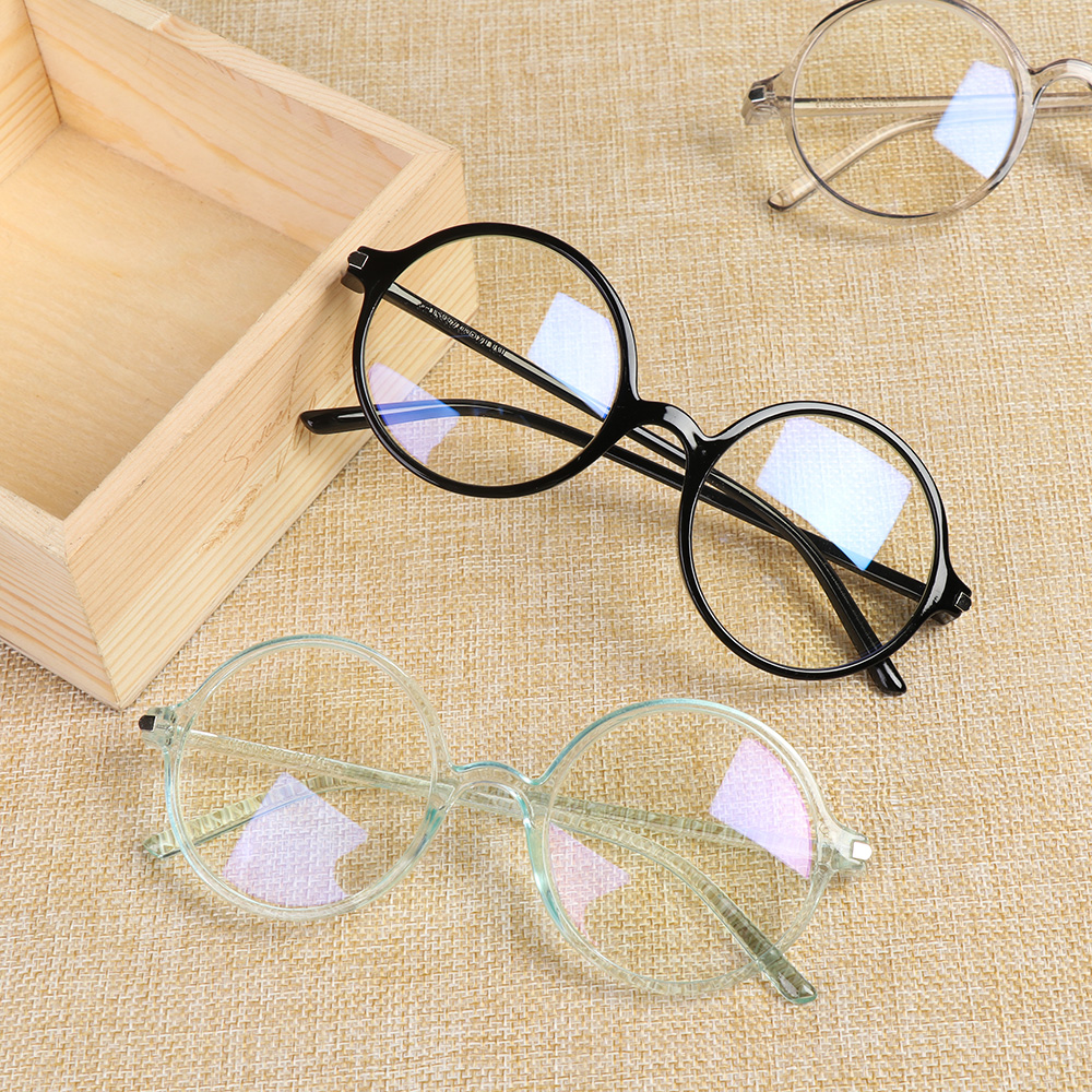 Anti Blue Light Glasses Round Optics Glasses Frame Men Women Anti Blue Rays Radiation Blocking Computer Goggles Spectacle