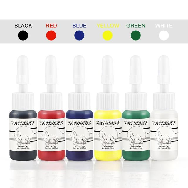 Tattoo Ink 6Pcs Body Painting Permanent Microblading Pigment Tattoo Ink Set  Body Art Tattoo Supplies Eyebrows Lip Makeup 1