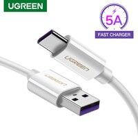 Ugreen-Cable USB tipo C de carga rápida 5A, Cable de sobrealimentación de 40W para Huawei Mate 40 30 Pro P40 P30