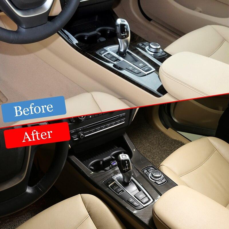 ABS Carbon Fiber Gear Lever Shift Knob Cover Trim For BMW F10 5 Series 11-17