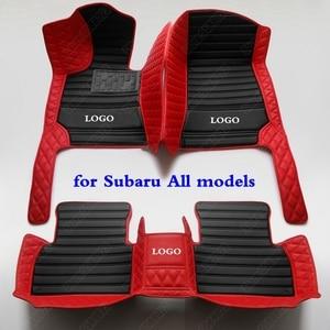 3D Leather Car Floor Mats for Subaru Legacy Outback Forester Impreza WRX STI BRZ XV Crosstrek Custom All Weather Auto Carpet